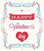Valentine's Day. vintage style — Stock Vector