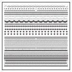 Vintage line border set and design element — Stock Vector #35001491