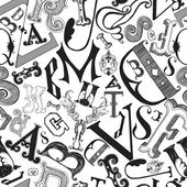Letters in a chaotic mess — Stock Vector