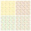 Set of decorative patterns in pastel colors — ストックベクタ