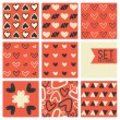 Сute heart vector pattern background  — Stock Vector