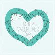 Stock Vector: Airy design in Valentine's Day