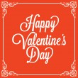 Vintage greeting card. Happy Valentine's day — Vector de stock