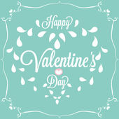 Celebration. Happy Valentine's Day in blue background — Stock Vector