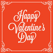 Vintage greeting card. Happy Valentine's day — Stock Vector