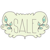 Spring sale design. Beautiful  illustration vintage style — Stock Vector