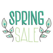 Spring sale isolated on white background — Stock Vector
