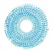 Abstract background. Circle of the dotted line. Blue and white  — Stock Vector #42038471