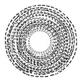 Abstract background. Circle of the dotted line. Black and White — Stock Vector