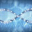 Animated background of DNA - Foto Stock