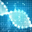 Animated background of DNA - Foto de Stock