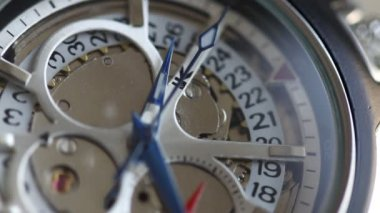 Macro of wrist watch — Vídeo Stock