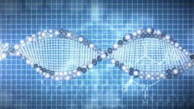 Animated background of DNA — Stock Video #20883433