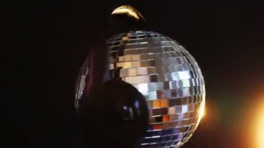 Rotating disco ball — Stock Video