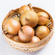 Fresh onion in basket — Stock Photo #41375275