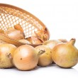 Fresh onion in basket — Stock Photo #41375325