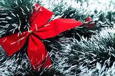 Fiocco rosso christhmas — Foto Stock
