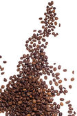 Coffe beans over white background — Stock Photo