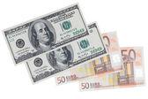 Dollars and euros — Stock Photo