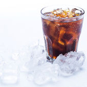 Glass of fresh coke — Stock Photo
