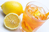 Fresh cocktail with lemon — Stock Photo
