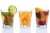 Cocktails met verschillende citrusvruchten — Stockfoto