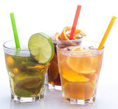 Cocktails with different citrus fruits — Foto Stock