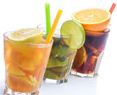 Cocktails with different citrus fruits — Foto de Stock
