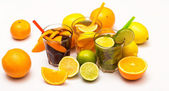 Cocktails with different citrus fruits — Stock Photo