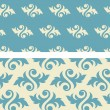 Stock Vector: Seamless damask Wallpaper Pattern