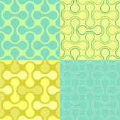 Seamless Puzzle Wallpaper Pattern — Stock Vector