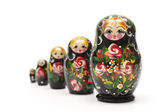 Russian traditional doll matreshka — Stock Photo