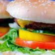 Homemade hamburgers — Stock Photo