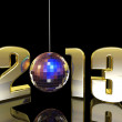 2013 New Year Disco Ball — Stock Photo