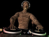 Mummy DJ — Stock Photo