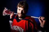 Jogador de lacrosse — Foto Stock
