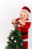 Niño santa — Foto de Stock
