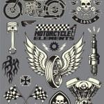 motocykl wektor zestaw elementów — Wektor stockowy