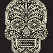 Stock Vector: Ornate Sugar Skull