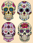 Day of the dead vector illustration set — Stock Vector