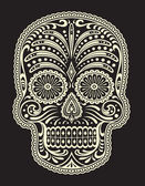 Ornate Sugar Skull — Stock Vector