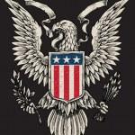 American Eagle Linework Vector — Stock Vector