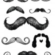 Hand drawn mustache set — Image vectorielle