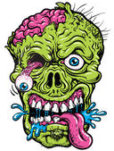Detailed Zombie Head — Stock Vector