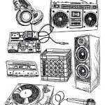 Sketchy Music Elements Vector Set — Stock Vector #28960287