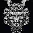 Samurai mask illustration — Stock Vector