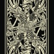 Classic Skeleton Playing Card — Image vectorielle