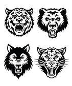 Animal Mascot Vector Logo Set — Stock Vector