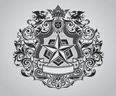 Ornate Shield Crest Design — Stock Vector