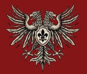 Hand Drawn Heraldic Eagle — Stock Vector